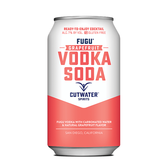 Fugu Grapefruit Vodka Soda (4 Pack - 12 Ounce Cans) Canned Cocktails Cutwater Spirits