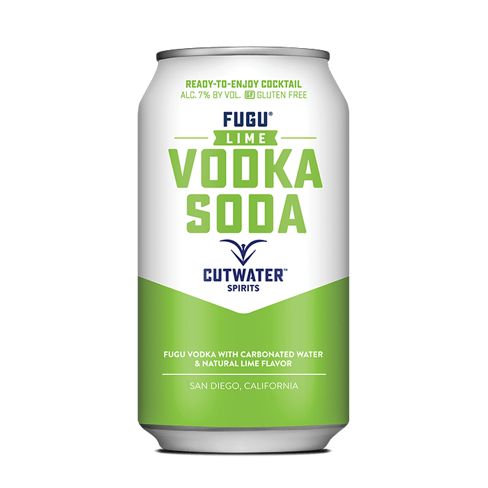Fugu Lime Vodka Soda (4 Pack - 12 Ounce Cans) Canned Cocktails Cutwater Spirits