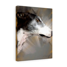 "Load image into Gallery viewer, ""Greyhound Profile"" Canvas Gallery Wrap"
