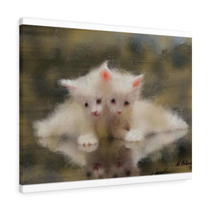 """Twin Sister Kittens"" Canvas Gallery Wrap"