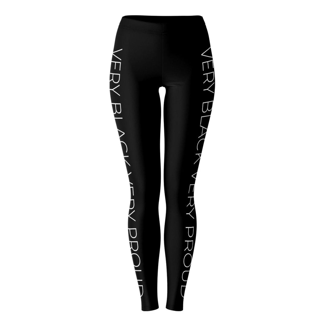 Very Black Very Proud Leggings-Leggings - AOP- Ébène Apparel