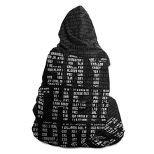 Load image into Gallery viewer, Say Their Names Hooded Blanket-Hooded Blanket- Ébène Apparel