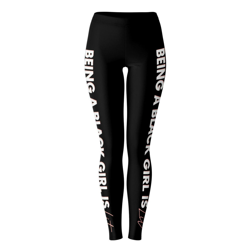 Being a Black Girl is Lit-Leggings- Ébène Apparel