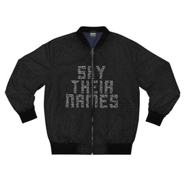 Say Their Names Unisex Bomber-All Over Prints- Ébène Apparel