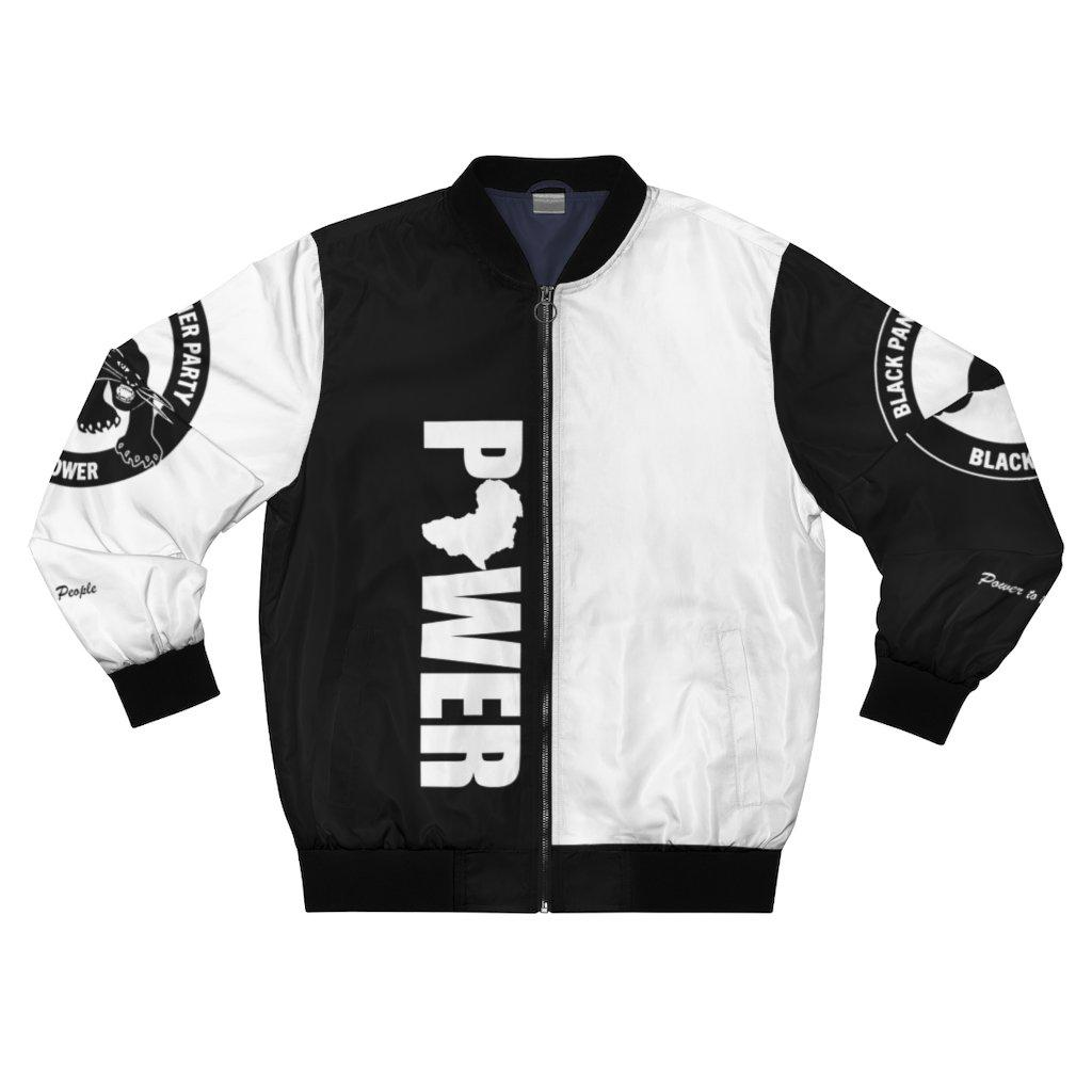 Black Panther Party Bomber Jacket-All Over Prints- Ébène Apparel