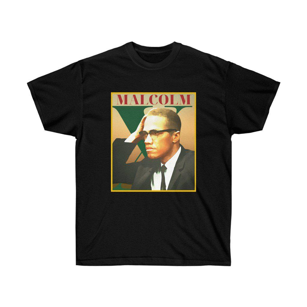 Malcolm X (Free shirt with code)-T-Shirt- Ébène Apparel