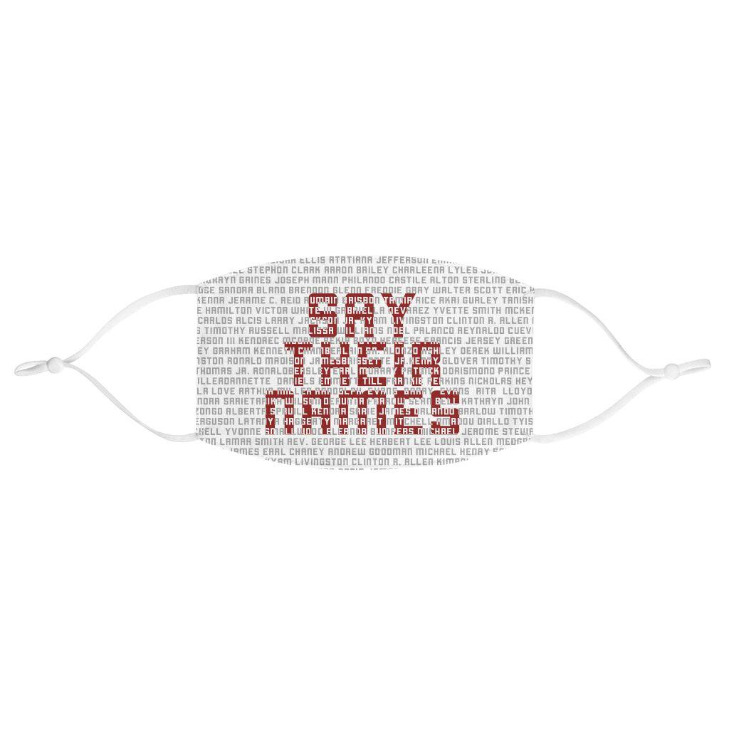 Say Their Names Face Mask (WHITE)-Accessories- Ébène Apparel