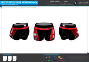 Womens Tri Hipster Shorts