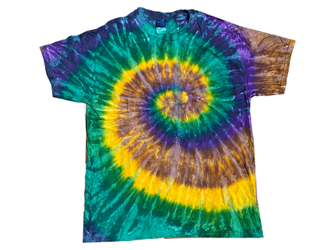 Green & Purple Swirl Tie Dye Tee-T-Shirt-Solus Supply