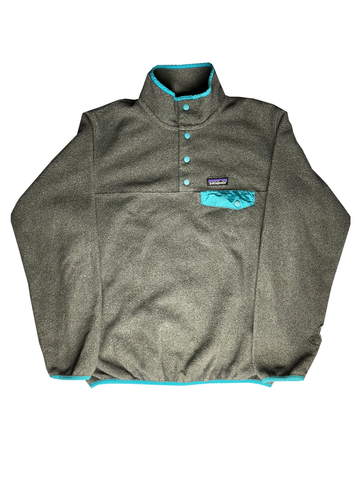Patagonia Snap T Synchilla Fleece Grey/Green-Fleece-Solus Supply