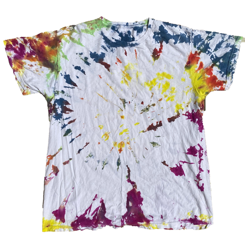 White Scatter Tie Dye Tee-T-Shirt-Solus Supply