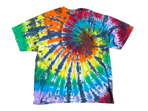 Multi Swirl Tie Dye Tee-T-Shirt-Solus Supply