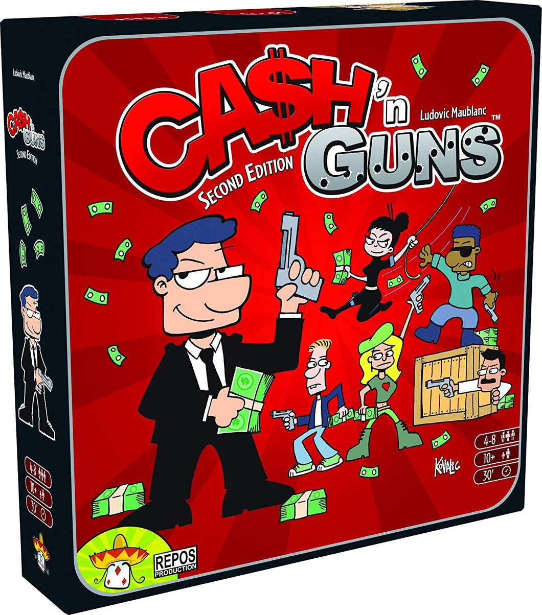 Board Game | Cash 'n Guns (Second Edition) | Game Night Gear