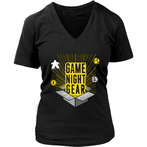 T-shirt Women's Game Night Gear V-Neck Tee - Game Night Gear