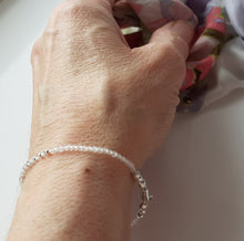 Load image into Gallery viewer, Rose quartz stacker bracelet