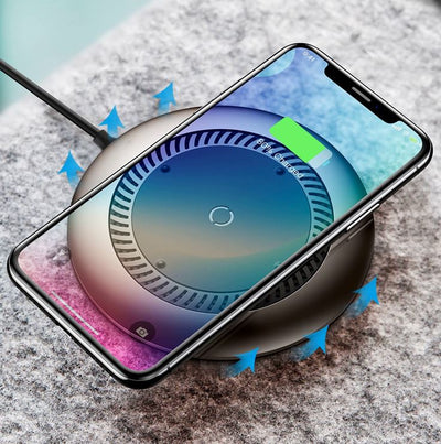 Chargeur Induction Gris iPhone