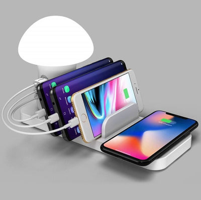 Chargeur Induction Lampe 4 En 1 iPhone