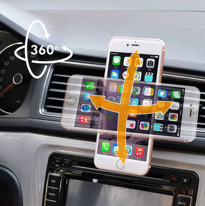 Porte Telephone Voiture Ventilation iPhone
