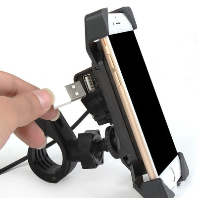Support Telephone Moto Avec Prise Usb iPhone