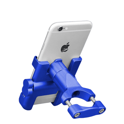 Support Telephone Portable Moto Bleu