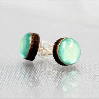 Aqua stud earrings Earrings