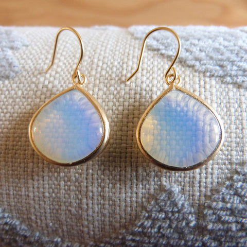 Opal drop earrings Earrings