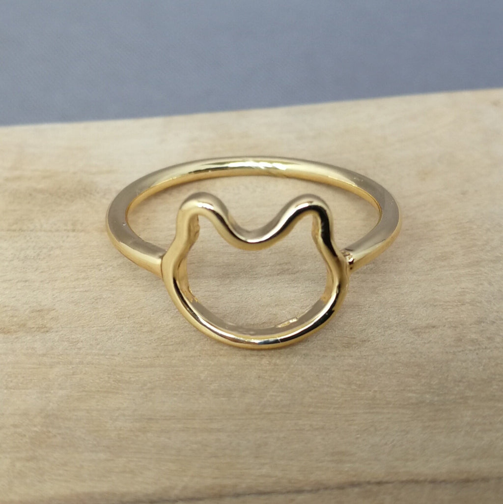 Gold cat ring
