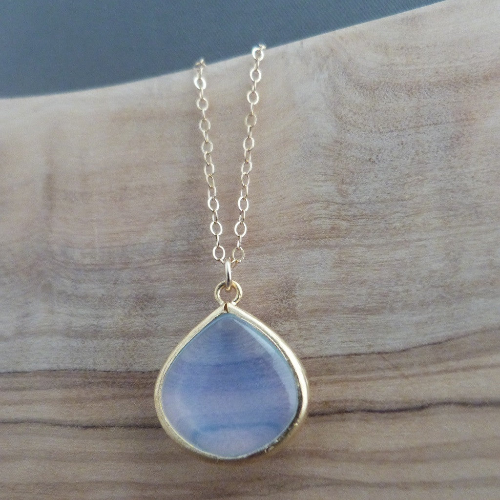 Opal teardrop pendant necklace Necklace