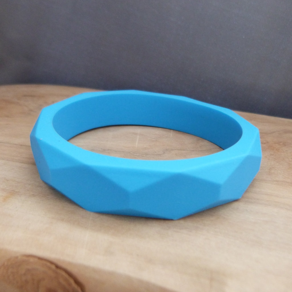 Blue teething bangle