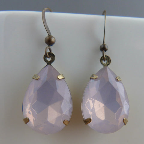 Frosted pink drop earrings Earrings