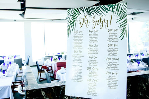 tropical baby shower signage