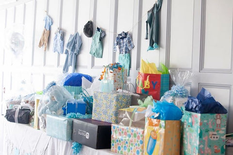boy baby shower ideas gift table