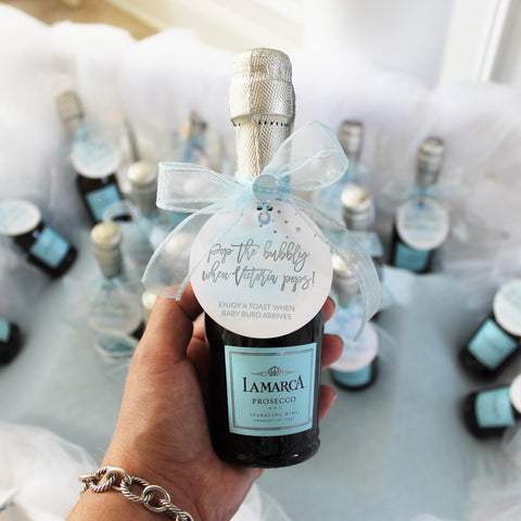 champagne baby shower favors baby boy