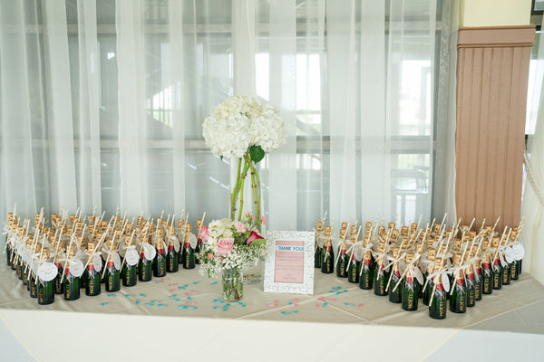 personalized champagne baby shower favors pop it when she pops