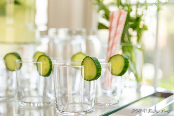 cucumber drinks for baby shower