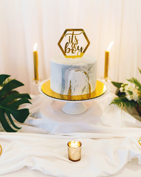 gray marble gold foil fondant cake by fancy cakes new jersey