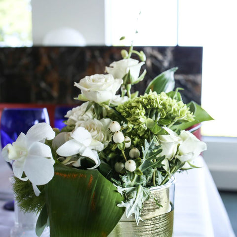 lush white floral and greens