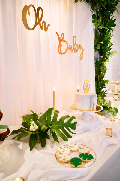 Oh Baby Baby Shower backdrop
