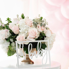 oh baby pink floral baby shower