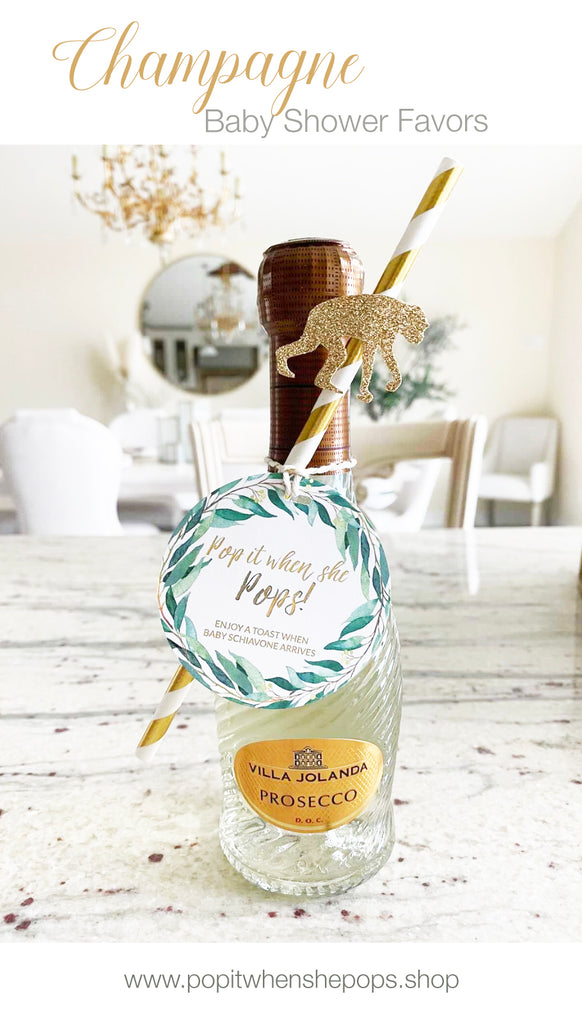Champagne Baby Shower Favors