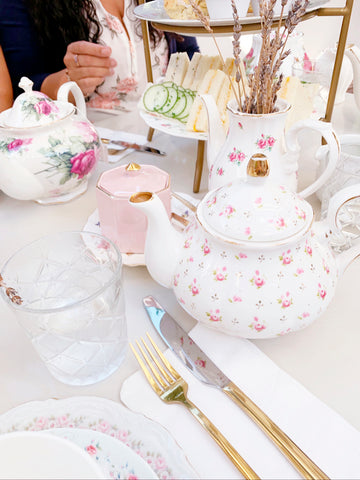 tea party baby shower table