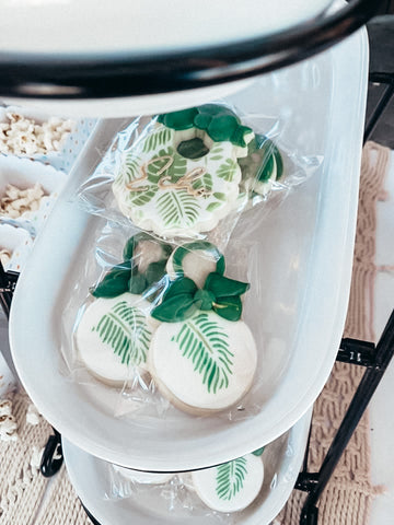 tropical baby shower cookies