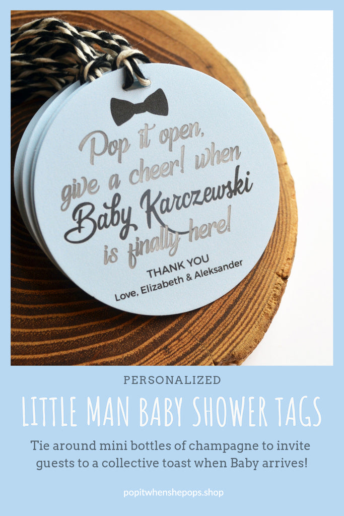 Little Man Baby Shower Tags - Bowtie - Bow Tie