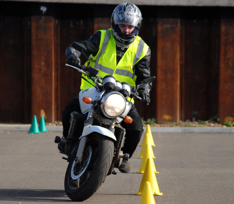 Motorcycle Rider Training - Cone Weave