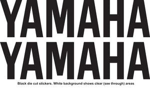 YAMAHA Style Name Vinyl Stickers Decal 225mm x 56mm Motocross Window Car Helmet