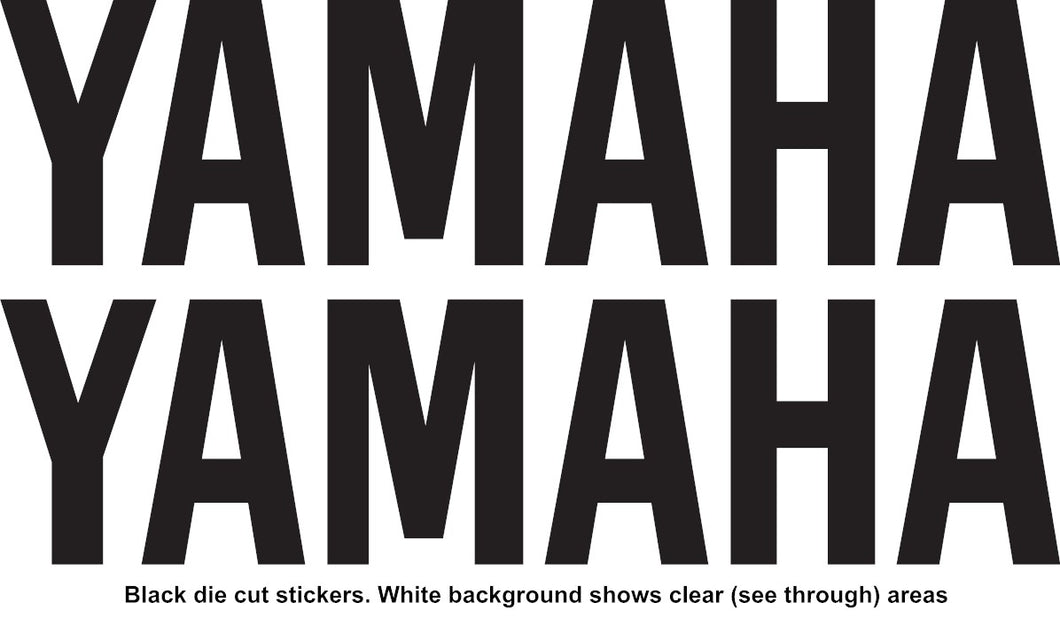 YAMAHA Style Name Vinyl Stickers Decal 100mm x 25mm Motocross Window Car Helmet