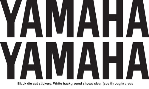 YAMAHA Style Name Vinyl Stickers Decal 150mm x 37mm Motocross Window Car Helmet