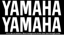 Load image into Gallery viewer, YAMAHA Style Name Vinyl Stickers Decal 225mm x 56mm Motocross Window Car Helmet