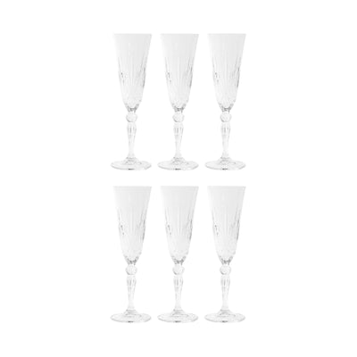 CRYSTAL CLUB 6x coupe de champagne 160ml
