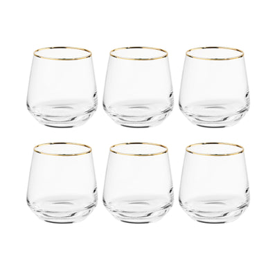 TOUCH OF GOLD 6x verre avec bord doré 345 ml - BUTLERS